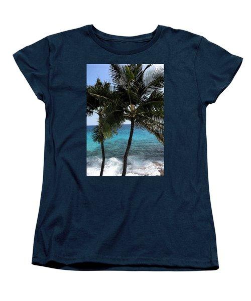 Hawaiian Palm Trees - All Images Copyright Karen L. Nicholson Women's T-Shirt (Standard Cut) by Karen Nicholson