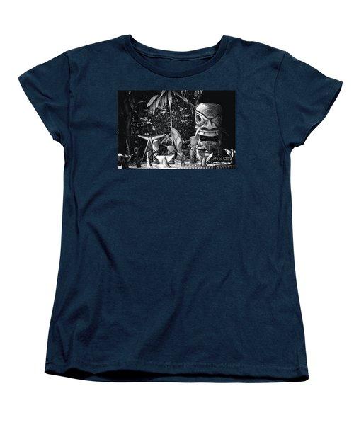 Women's T-Shirt (Standard Cut) featuring the photograph Hawaiian Tiki Carvings by Sharon Mau