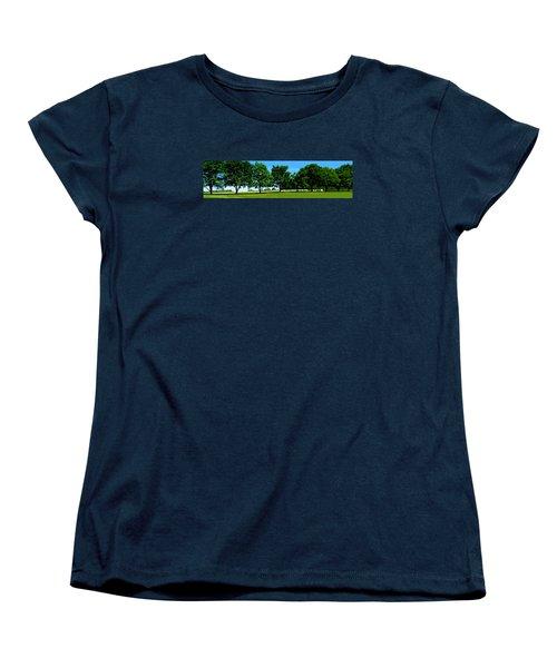Women's T-Shirt (Standard Cut) featuring the photograph Hay Harvest by Spyder Webb