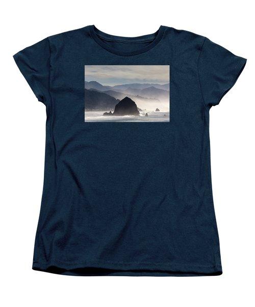 Haystack Rock On The Oregon Coast In Cannon Beach Women's T-Shirt (Standard Fit)