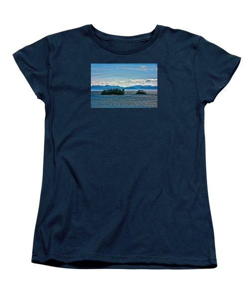 Women's T-Shirt (Standard Cut) featuring the photograph Hazy Alaskan Morning by Lewis Mann