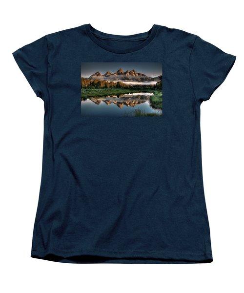 Hazy Reflections At Scwabacher Landing Women's T-Shirt (Standard Cut) by Ryan Smith