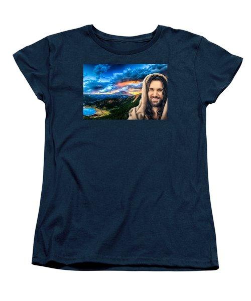He Watches Over Me Women's T-Shirt (Standard Cut)