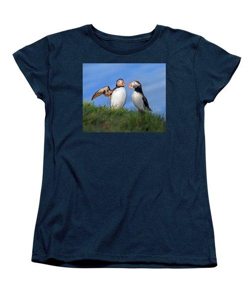 He Went That Way Women's T-Shirt (Standard Cut) by Betsy Knapp