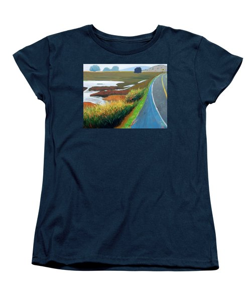 Women's T-Shirt (Standard Cut) featuring the painting Heading North by Gary Coleman