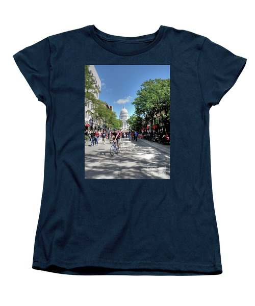 Heading To Camp Randall Women's T-Shirt (Standard Cut) by David Bearden