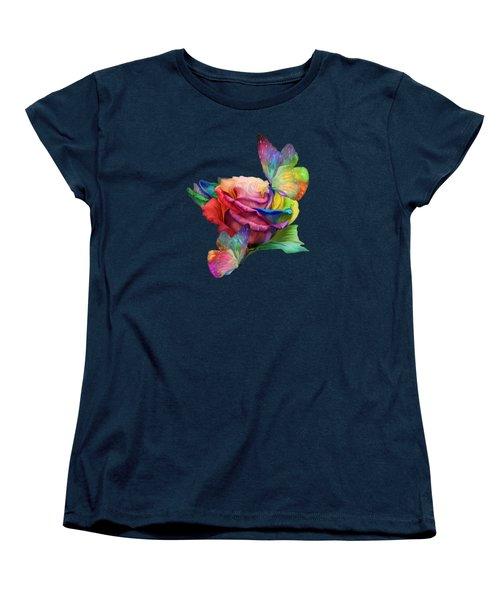 Healing Rose Women's T-Shirt (Standard Cut) by Carol Cavalaris