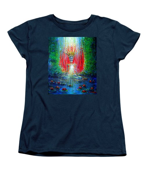 Women's T-Shirt (Standard Cut) featuring the painting Healing Waters by Heather Calderon