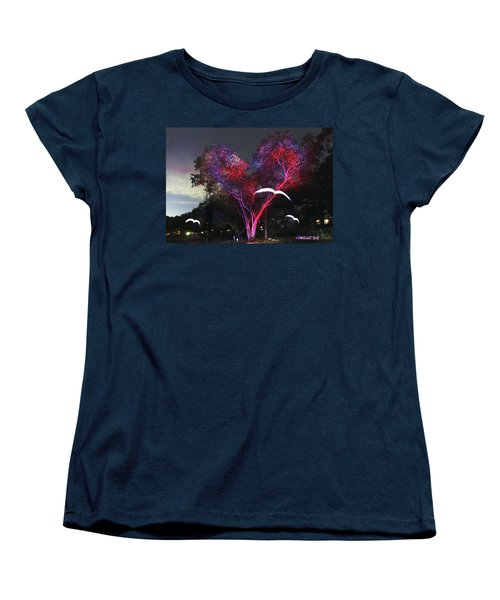 Heart Tree And Birds Women's T-Shirt (Standard Cut) by Andrew Nourse