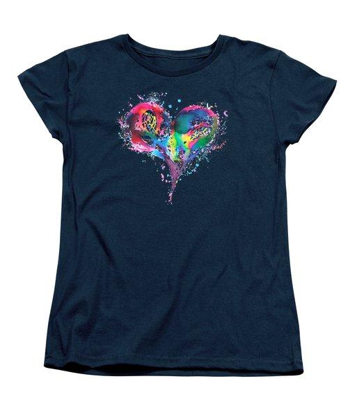 Hearts 6 T-shirt Women's T-Shirt (Standard Cut) by Herb Strobino