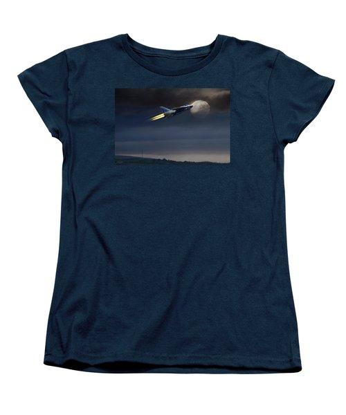 Women's T-Shirt (Standard Cut) featuring the digital art Heat Of The Night by Peter Chilelli