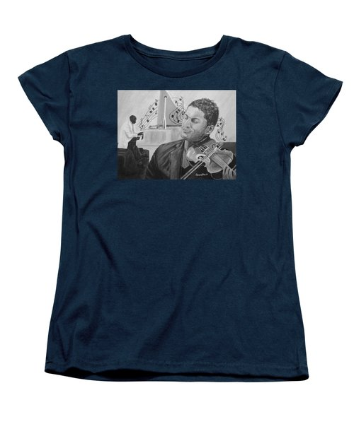 Women's T-Shirt (Standard Cut) featuring the painting Heavenly Music by Quwatha Valentine