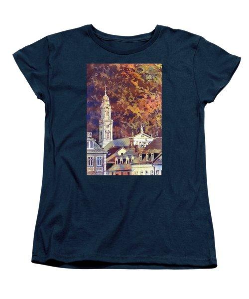 Women's T-Shirt (Standard Cut) featuring the painting Heidelberg Evening by Ryan Fox