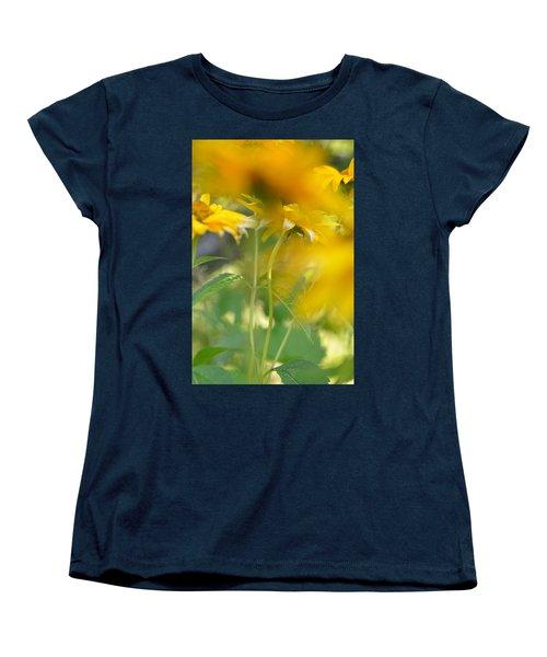 Heliopsis Blur Women's T-Shirt (Standard Cut) by Janet Rockburn