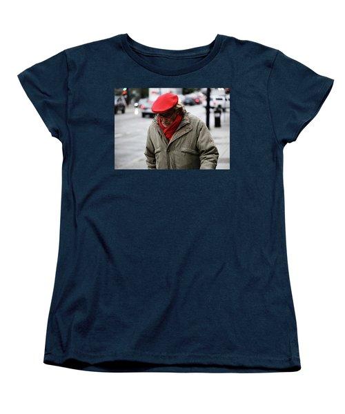 Women's T-Shirt (Standard Cut) featuring the photograph Hello Bonjour  by Empty Wall