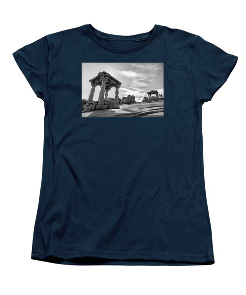 Women's T-Shirt (Standard Cut) featuring the photograph Hemakuta Hill, Hampi, 2017 by Hitendra SINKAR