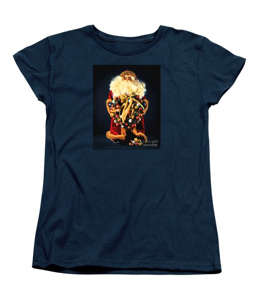Women's T-Shirt (Standard Cut) featuring the painting Here Comes Santa by Chris Armytage