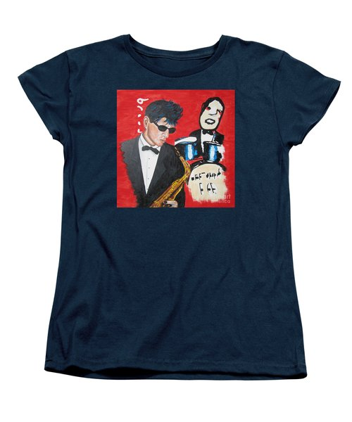 Women's T-Shirt (Standard Cut) featuring the painting Herman Brood Jamming With His Art by Jeepee Aero