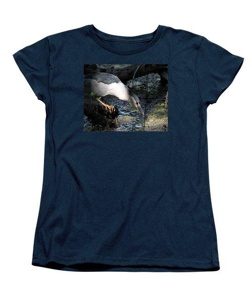 Women's T-Shirt (Standard Cut) featuring the photograph Heron In A Sun Beam by Doris Potter