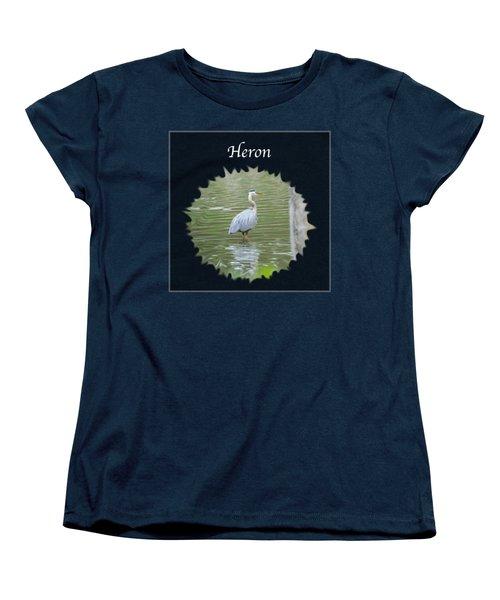 Heron Women's T-Shirt (Standard Cut) by Jan M Holden