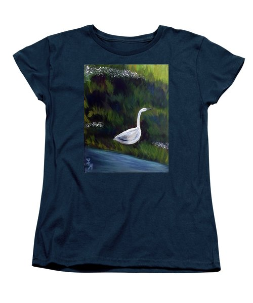 Heron Women's T-Shirt (Standard Cut) by Loretta Nash