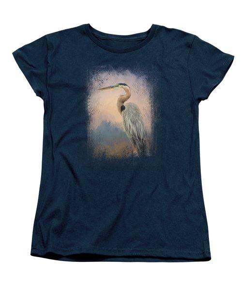Heron On The Rocks Women's T-Shirt (Standard Cut) by Jai Johnson