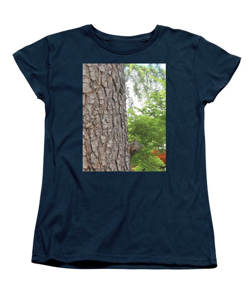 Women's T-Shirt (Standard Cut) featuring the photograph Hey Down Here by Marie Neder