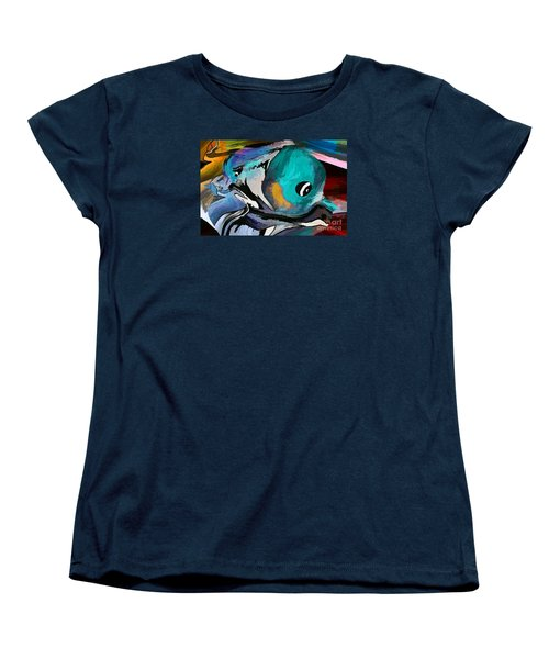 Hey Guy I Am Silly Willy The Fish Women's T-Shirt (Standard Cut) by Sherri's Of Palm Springs