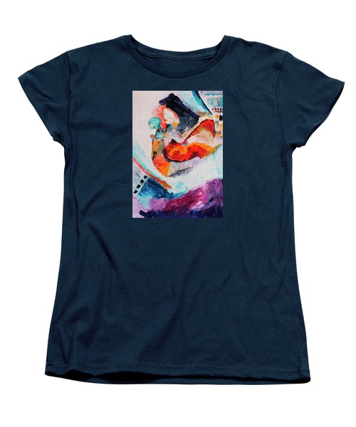 Hey Mr. Spaceman Women's T-Shirt (Standard Cut) by Stephen Anderson