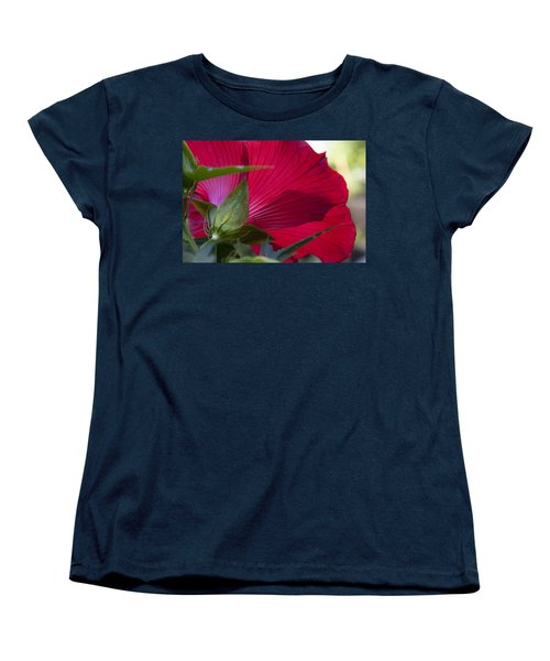 Women's T-Shirt (Standard Cut) featuring the photograph Hibiscus by Charles Harden