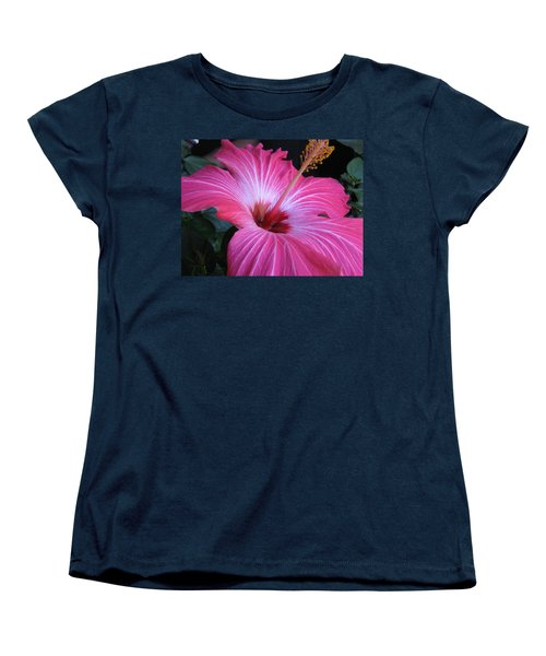Hibiscus Photograph Women's T-Shirt (Standard Cut) by Barbara Yearty
