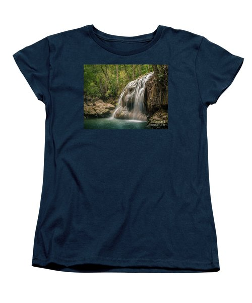 Women's T-Shirt (Standard Cut) featuring the photograph Hidden In The Jungle Of Guatemala by Jola Martysz