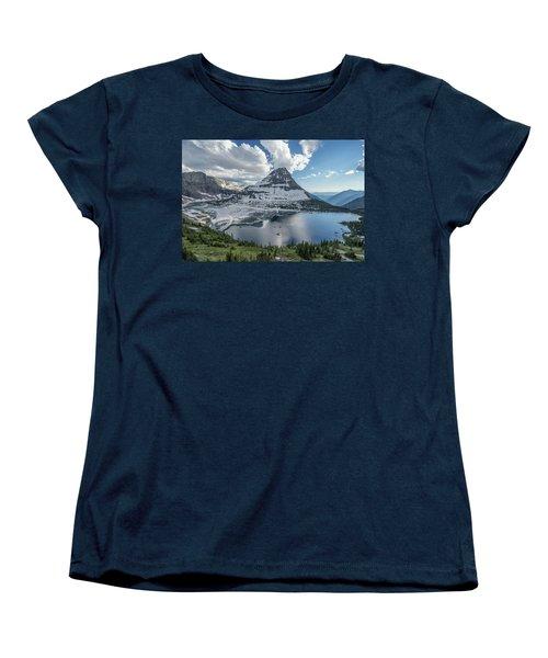 Hidden Lake Women's T-Shirt (Standard Cut) by Alpha Wanderlust