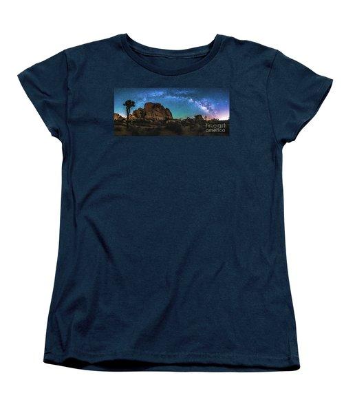 Hidden Valley Milky Way Panorama Women's T-Shirt (Standard Cut) by Robert Loe