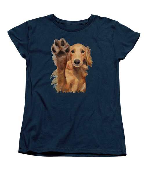 Women's T-Shirt (Standard Cut) featuring the painting High Five - Apparel by Jindra Noewi