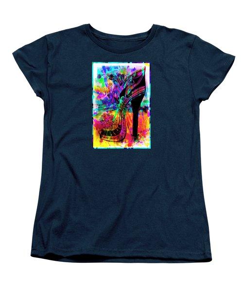 High Heel Heaven Abstract Women's T-Shirt (Standard Cut) by Jolanta Anna Karolska