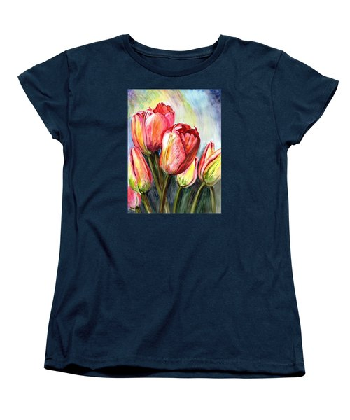 Women's T-Shirt (Standard Cut) featuring the painting High In The Sky by Harsh Malik