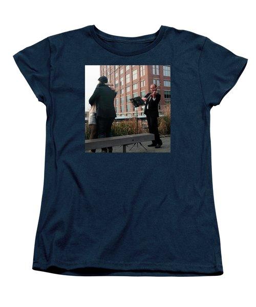 Women's T-Shirt (Standard Cut) featuring the photograph Highline Serenade by Madeline Ellis