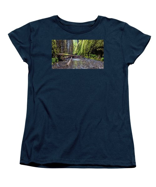Women's T-Shirt (Standard Cut) featuring the photograph Hiking Oneonta Gorge by Pierre Leclerc Photography