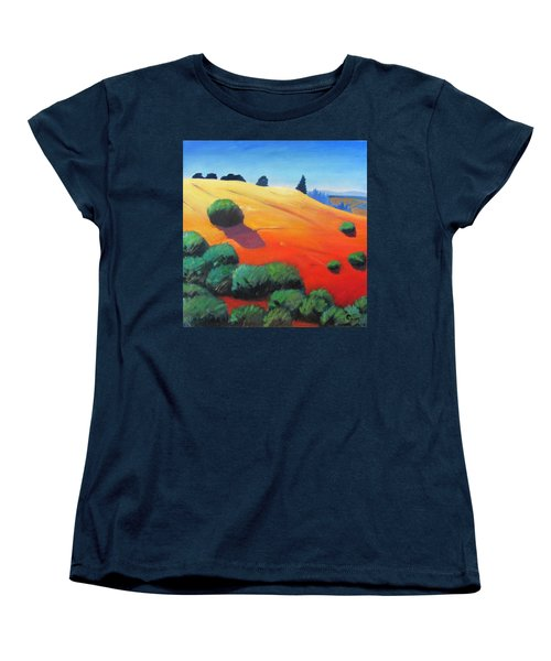 Women's T-Shirt (Standard Cut) featuring the painting Hills And Beyond by Gary Coleman
