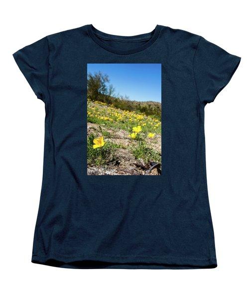 Hillside Flowers Women's T-Shirt (Standard Cut) by Ed Cilley