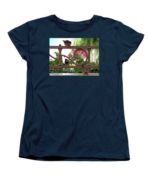 His Eye Is On The Sparrow Women's T-Shirt (Standard Cut) by Marie Hicks