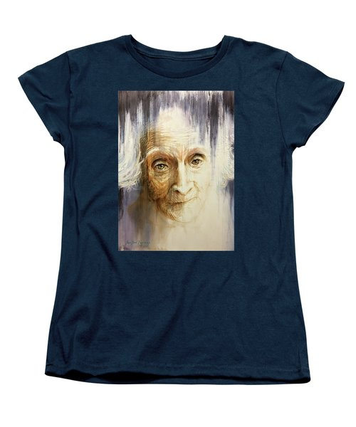 Women's T-Shirt (Standard Cut) featuring the painting Histories And Memories Of Ancestral Light 3 by J- J- Espinoza