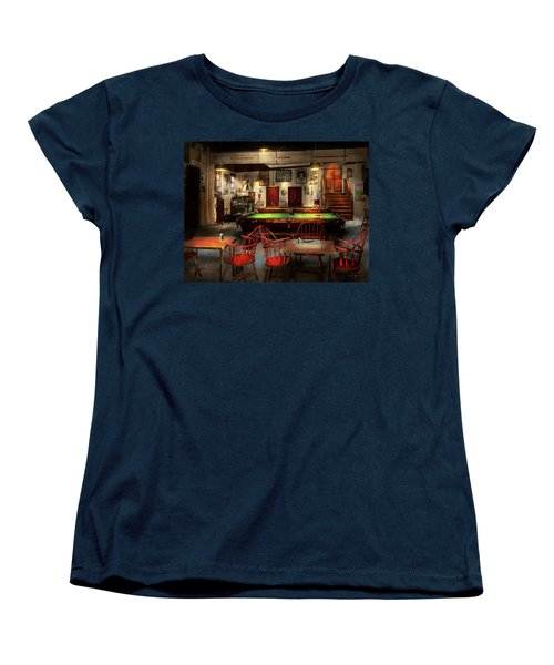 Women's T-Shirt (Standard Cut) featuring the photograph Hobby - Pool - The Billiards Club 1915 by Mike Savad