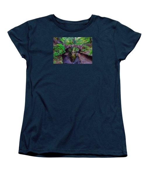 Women's T-Shirt (Standard Cut) featuring the photograph Hocking Hills State Park 3 by Brian Stevens