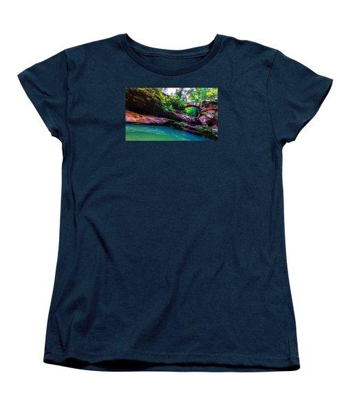 Women's T-Shirt (Standard Cut) featuring the photograph Hocking Hills State Park 4 by Brian Stevens