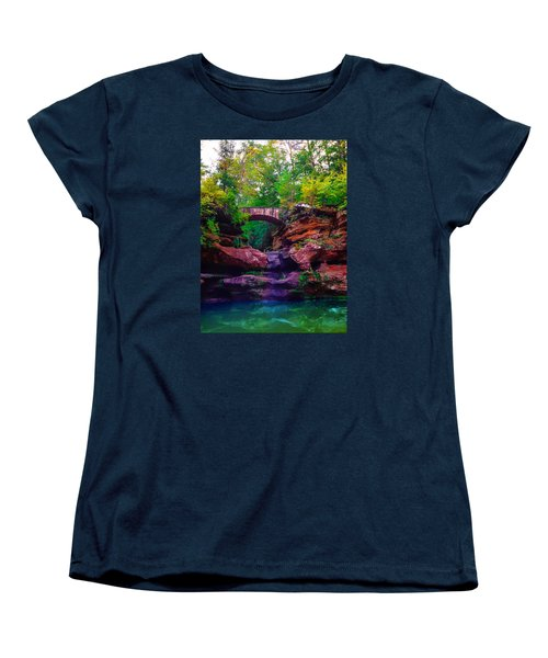 Women's T-Shirt (Standard Cut) featuring the photograph Hocking Hills State Park 6 by Brian Stevens
