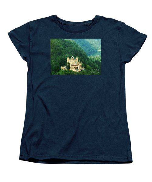Women's T-Shirt (Standard Cut) featuring the photograph Hohenschwangau Castle 1 by Rudi Prott