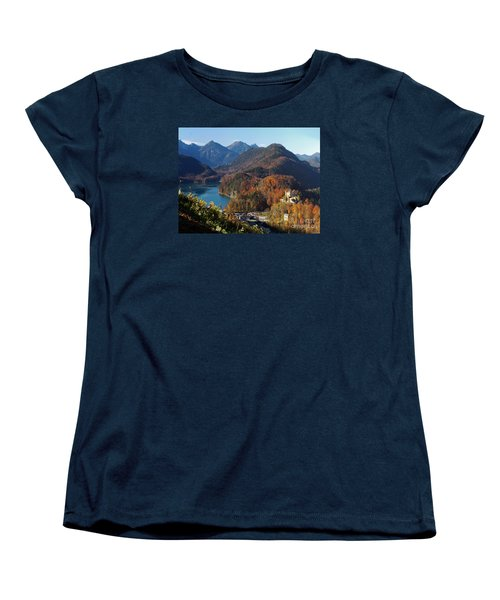Hohenschwangau Castle And Alpsee In Bavaria Women's T-Shirt (Standard Cut)