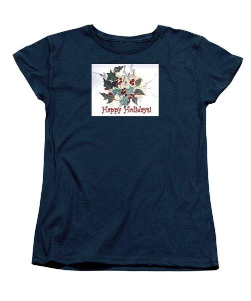 Holidays Card -1 Women's T-Shirt (Standard Cut) by Dorothy Maier